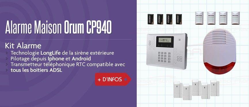 Alarme maison orum cp940